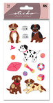 Puppies Glitter Sticko Stickers