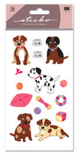 Puppies Glitter Sticko Stickers
