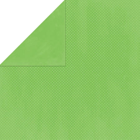 Wasabi Double Dot Cardstock - Bo Bunny