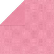 Blush Double Dot Cardstock - Bo Bunny