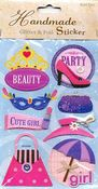 Party Girl 3D Stickers