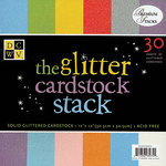 The Glitter Cardstock Stack 12x12 - DCWV