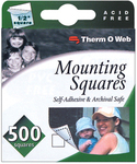 White Mounting Squares 500/pkg - Therm O Web