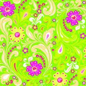 Green Floral Glitter