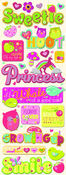 Berry Sweet Words & Icons Chipboard