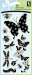 Patterned Bugs Clear Stamps