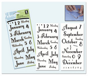 Months & Days Clear Stamps