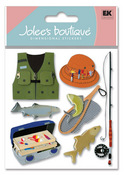 Fishing Trip 3D  Stickers - Jolee's Boutique