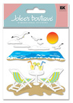 Beach Leisure 3D  Stickers - Jolee's Boutique