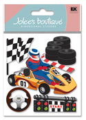 Go Carts 3D  Stickers - Jolee's Boutique