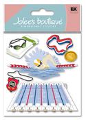 Swim Team 3D  Stickers - Jolee's Boutique