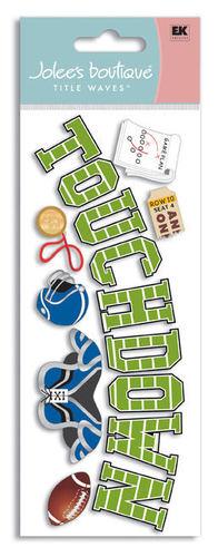 Touchdown 3D Title  Stickers - Jolee's Boutique