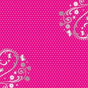 B&B Pink Polka Dots Foil - DCWV