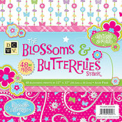 The Blossoms & Butterflies Stack 12x12 - DCWV