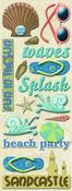 Sea Glass Beach Adhesive Chipboard