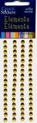 Yellow Rhinestones Round Strips 5mm