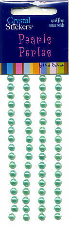 Mint Pearls Round Strips 5mm