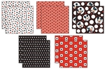 Mickey Black, White & Red Paper Pack 12x12