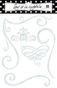 Clear Fanciful Swirls Say It In Crystals by Prima
