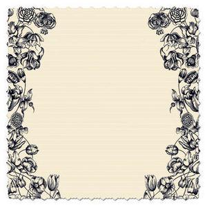 Antique Cream Double Floral 12x12 Paper - Creative Imaginations