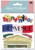 Welcome Bienvenue 3D  Stickers - Jolee's Boutique