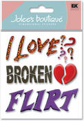 Flirt 3D  Stickers - Jolee's Boutique