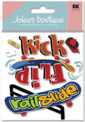 Kick Flip 3D Skate Board Stickers - Jolee's Boutique