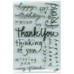 Happy Messages Clear Stamps