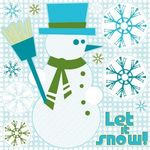 Frosted Snowman Glitter Stickers - Reminisce