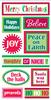 Christmas Words Lg 3D Stickers - Sandylion