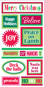 Christmas Words Lg 3D Stickers - Sandylion
