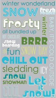 Frosted Phrases Rub-Ons