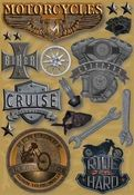 Motorcycles Sticker Stickers by Karen Foster