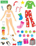 Emily Dress Up Paper Doll Stickers - Mrs Grossman's