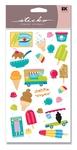 Ice Cream Truck Glitter Sticko Stickers