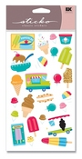 Ice Cream Truck Glitter Sticko Stickers