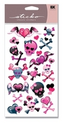 Girly Girl Skulls Metallic Sticko Stickers