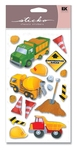 Construction Dimensional Sticko Stickers