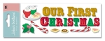 Our First Christmas Title 3D  Stickers - Jolee's Boutique