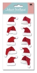 Santa Hats 3D  Stickers - Jolee's Boutique
