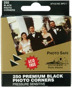 Premium Black Photo Corners