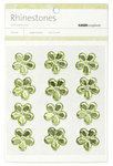 Mint Large Flowers Rhinestones