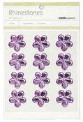 Lilac Large Flowers Rhinestones
