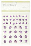 Lilac Mixed Flowers Rhinestones