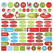 Be Merry! Cards Cardstock Stickers