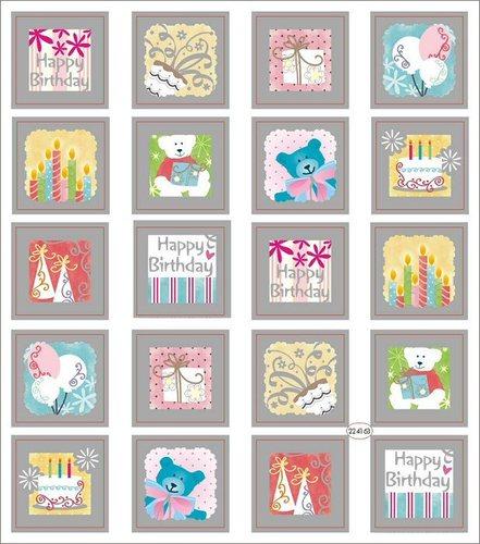 Birthday Squares Stickers