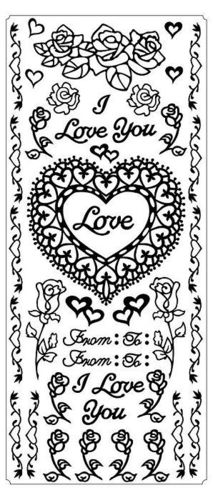 I Love You Fancy Hearts & Roses Silver
