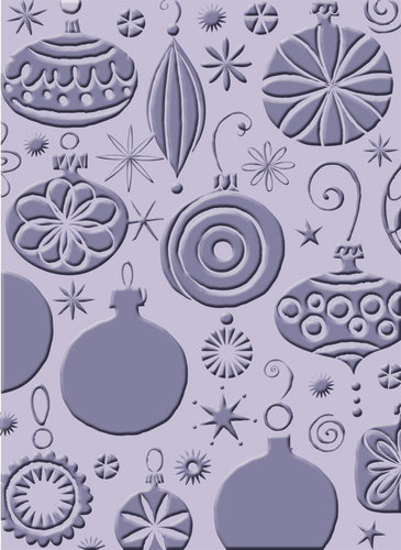 Christmas Ornaments A2 Embossing Folder - Cuttlebug