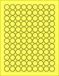 "Yellow .75"" Circle"