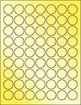"Gold Foil 1"" Circle"